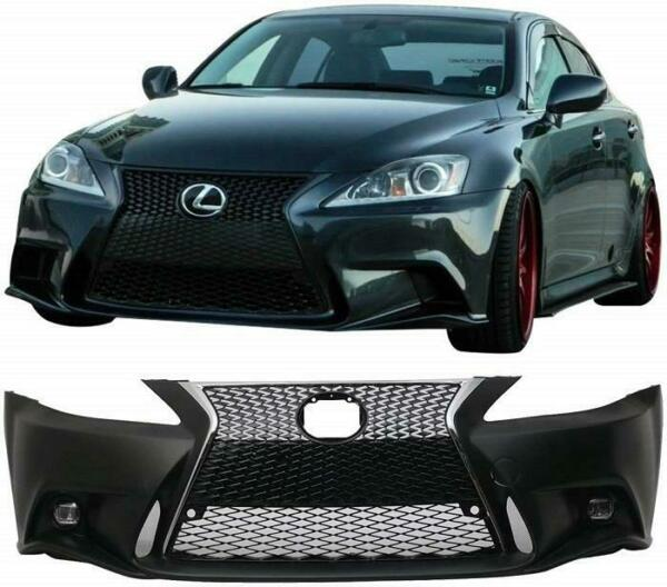 For 2006-2013 Lexus IS250/350/C 2ic to 3ic Front Bumper Conversion Kit+Grilles