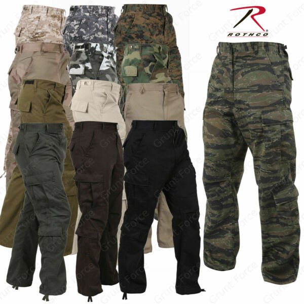Mens Paratrooper 8 Pocket Vintage Fatigues-Military Style Camo Cargo Pant Rothco