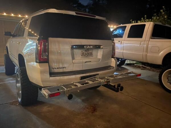 Motorcycle Hitch Receiver Mounted Aluminum Dirt Bike Carrier Trailer Rack w Ramp $165.99
