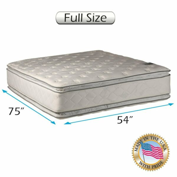 Serenity Double-Sided Full Size PillowTop Mattress Only with Mattress Cover