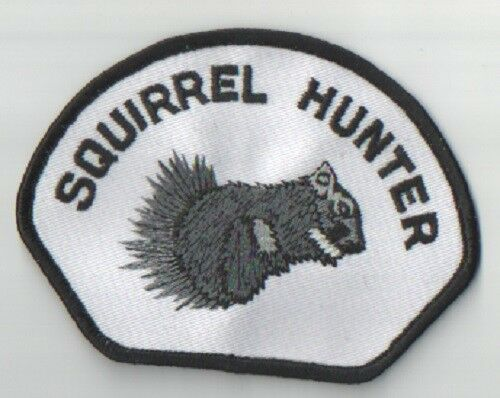 SQUIRREL HUNTER EMBROIDERED IRONSEW ON PATCH NEW