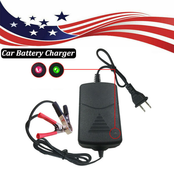 Universal 12V Car Battery Maintainer Charger Tender Auto Trickle Boat Motorcycle $7.85