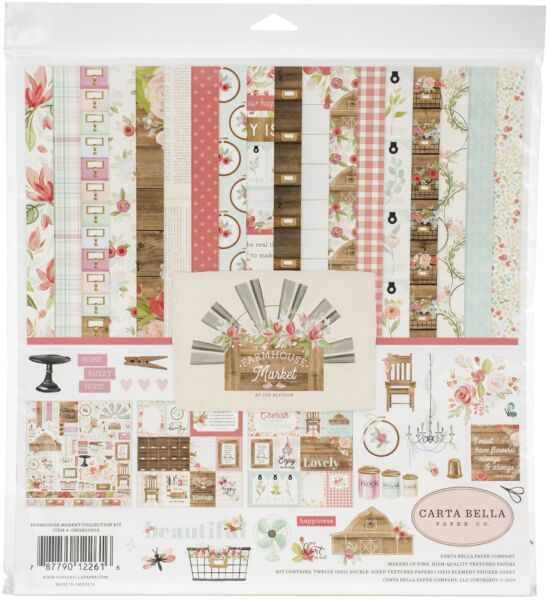 Carta Bella Collection Kit 12quot;X12quot; Farmhouse Market