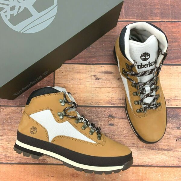 Timberland Men#x27;s Euro Hiker Wheat Leather Hiking Boots $129.99