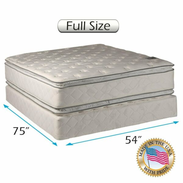 Dream Sleep Hollywood Gentle Plush Full 2-Sided Mattress Set with Mattress Cover