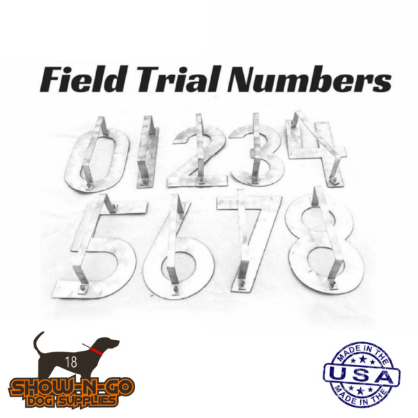 Field Trial Number Stencils for Dog Blankets and Jackets $50.00