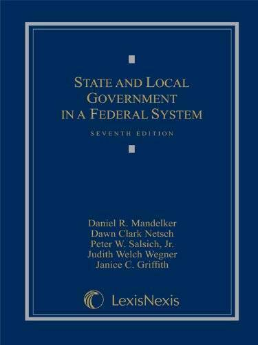State and Local Government in a Federal System Hardcover GOOD