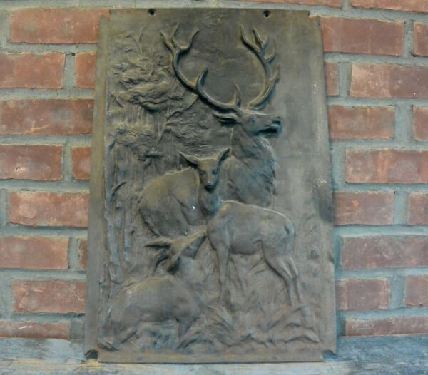 Bas Relief Cast Iron Fireplace Screen; Fireplace Cover; Fire Box Decor