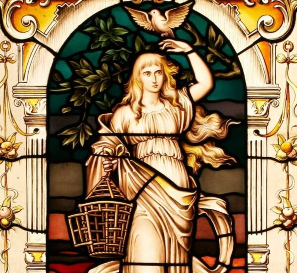 Mythical Goddesses Light & Darkness Victorian Decorative Stained Glass Windows