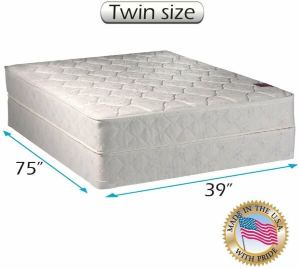Dream Sleep Legacy None Flip 1-Sided Twin Size Mattress Set with Mattress Cover