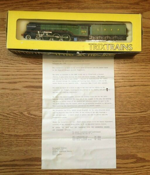 Trix Trains Lner 525 AH Peppercorn A2 Locomotive Instructions NOS in Box