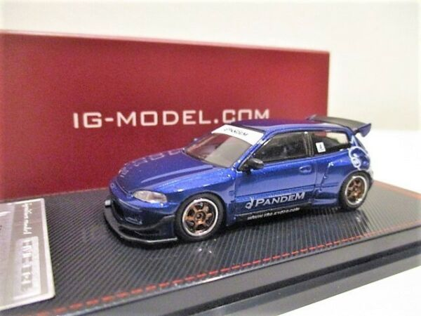 Ignition Model 164 Honda Civic Blue Metallic. Japan Exclusive Very Limited