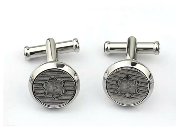 Montblanc Urban Spirit Stainless Steel Snow Cap M Engraved Cufflinks 114770