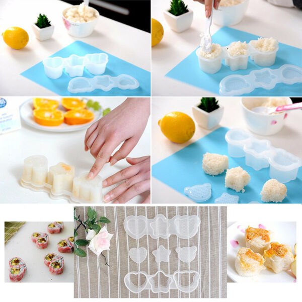 Home Sushi Decoration Kitchen Gadget Tool Odorless Safety Non-Toxic Sushi Mold