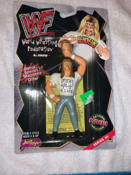 WWF WWE Al Snow Head 1999 Bend-Ems Action Figure Just Toys Series XI NEw