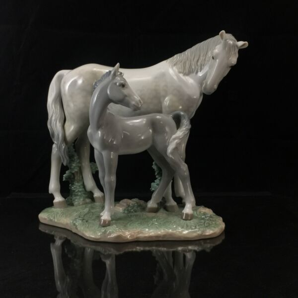 Lladro First Steps On The Prairie Porcelain Figurine Horse Mare Foal #6873 MINT