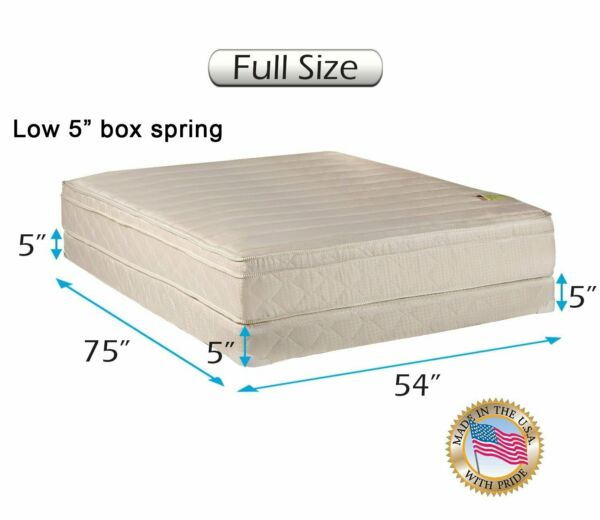 Comfort Pedic PillowTop Firm Full Mattress and Low 5