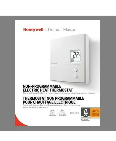 HONEYWELL ECC-CONTROL PRODUCTS RLV3150A1004E Non-Programmable Thermostat. New