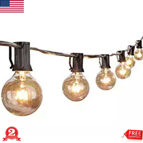 25Ft LED Bulbs String Light Ball Globe Fairy Lamp Party Patio Indoor Outdoor New