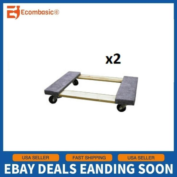 Set of 2 Swivel Padded Sidewalls 18quot; x 30quot; Furniture Mover Dolly 660lbs Capacity $55.80