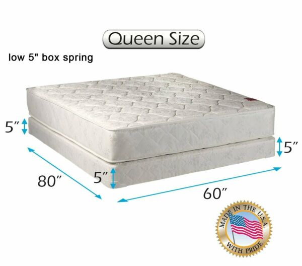 Dream Sleep Legacy Queen 2-Sided Mattress and Low 5