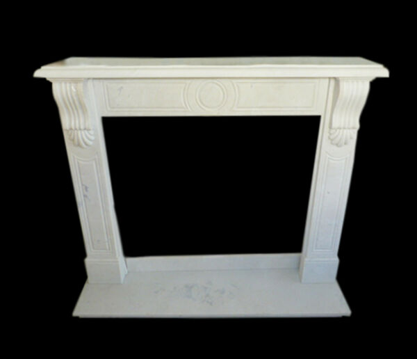 Frame Fireplace White Marble Classic Old Fireplace Marble Frame L130cm