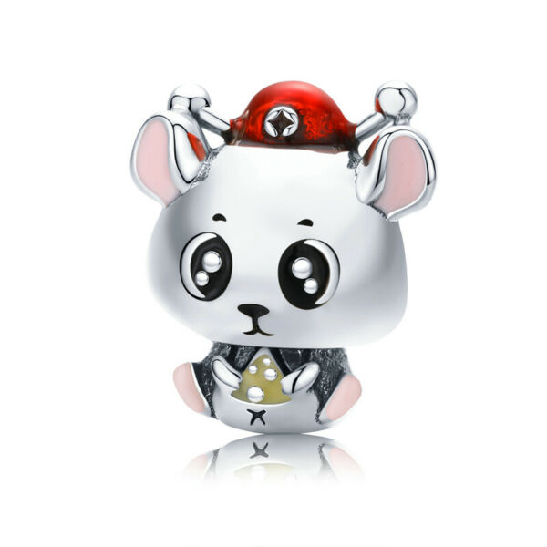Bisaer Authentic 925 Silver Accessories Rat baby Charms Beads Jewelry For Women $8.27