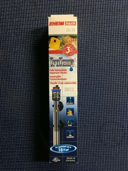 EHIEM JAGER Fully Submersible Aquarium Heater 50Watt Up To 16Gal New 3612090 $25.00