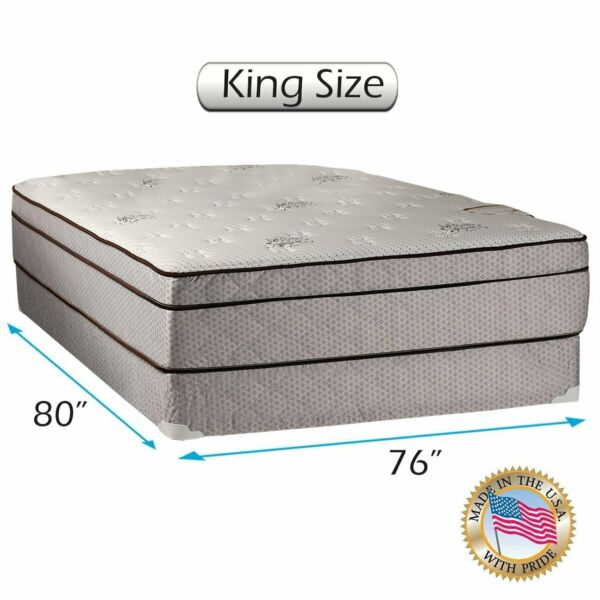 Dream Sleep Fifth Ave Plush Foam Encased King Mattress Set w Mattress Cover
