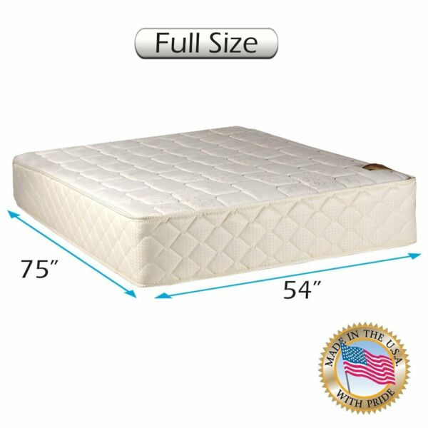 Grandeur Deluxe Full Medium Firm Two-Sided Mattress Only with Mattress Cover