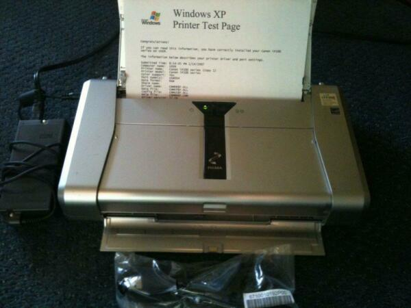 CANON iP100 Pixma Color Laptop Printer Complete - Great condition!