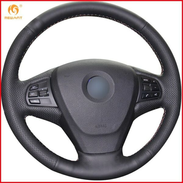 Black Leather Car Steering Wheel Cover for BMW F25 X3 2011 2017 F15 X5 2014 A12