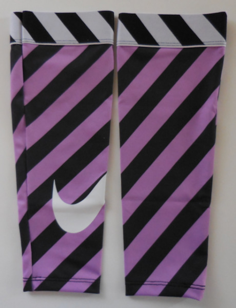 Nike Women's Pro Angled Printed Calf Sleeves Violet Shock/Black/White Size XS/S