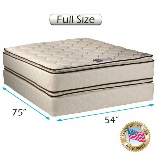 Dream Sleep Coil Comfort Two-Sided Full Size Mattress Set with Mattress Cover