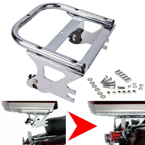 Detachable Twoup Tour Pak Pack Mount Bracket Rack Trunk For Harley Touring 97 08 $56.95