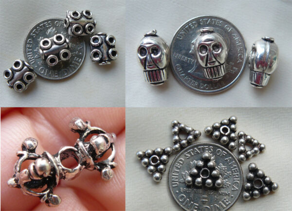 sterling silver specialty beads skulls fancy shapes detail 925 sterling silver $10.00