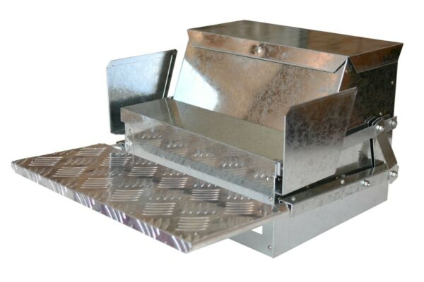 My Favorite Chicken® Metal Automatic Poultry Treadle Feeder 20lbs Chicken Feed $139.99