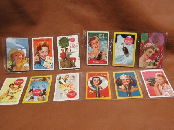 Lot 12 Pin-up Girl Model Coca Cola Advertisement Swap Playing Cards Coke