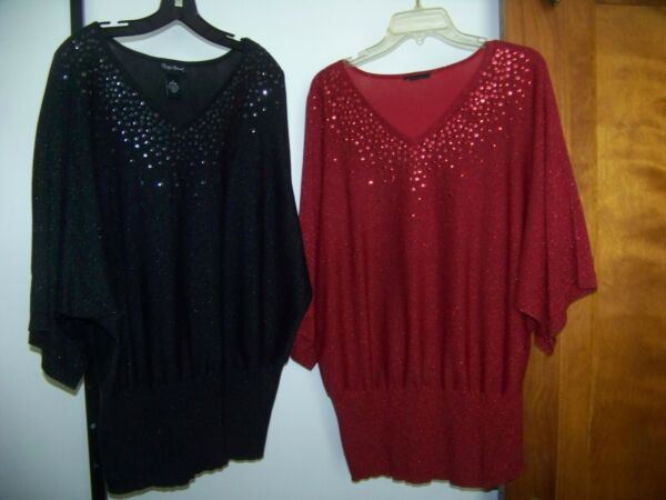 2 Maggie Barnes Plus Sweater with Sequin Size 1X 18 20W $8.00