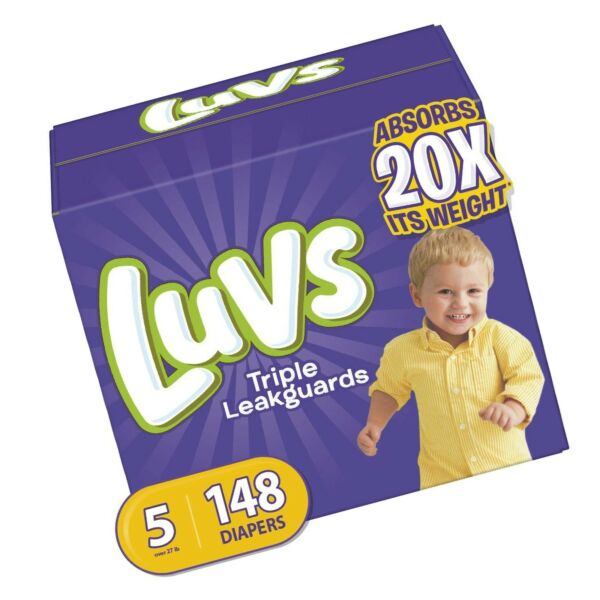 Luvs Ultra Leakguards Disposable Baby Diapers Size 5 148 Count ONE MONTH SUPPLY $37.25