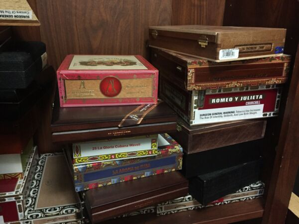 Cigar Box Lot Of 10 Variety Wood Arts and Crafts Craft Stash