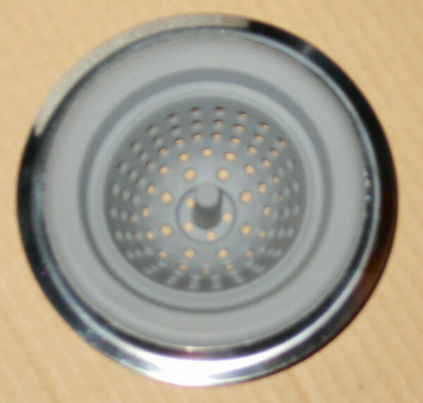 10 NEW KITCHEN SINK STRAINERS GRAY SILICONE W RUST PROOF STAINLESS STEEL COLLAR