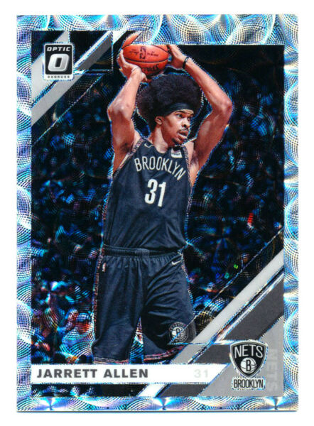 2019 20 DONRUSS OPTIC #142 JARRETT ALLEN PREMIUM SILVER SCOPE HOLO NETS 249 QTY $4.99
