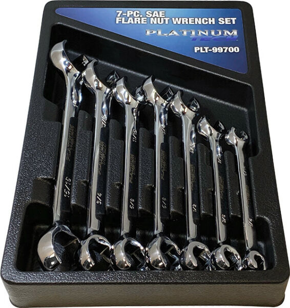 Platinum Tech 7pc SAE Flare Nut Line Wrench Set 1 4quot; to 1quot; #99700