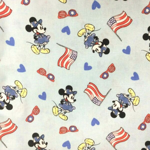 Minnie Mouse Patriotic Flag Summer Over Collar Slide On Dog Cat Bandana Scarf $5.50
