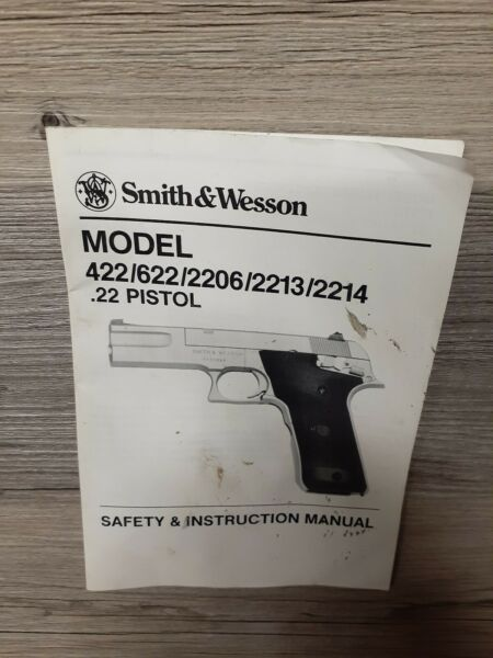 Smith & Wesson Model 422622220622132214.22 Safety & Instruction Manual