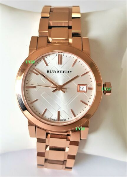 Burberry Watch Womens White Dial Rose Gold Band Rose Gold Case BU9104 Genuine $99.95