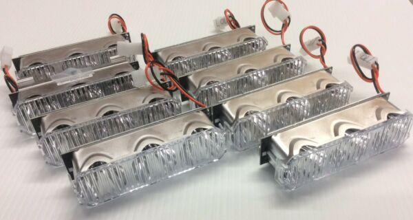 Whelen Justice LED LIGHTBAR Con 3 AMBER set of 8 NEW