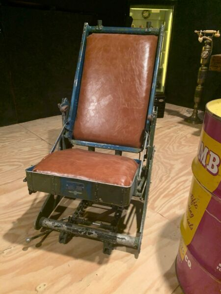 vintage world war 2 bomber non ejection seat awesome man cave item!