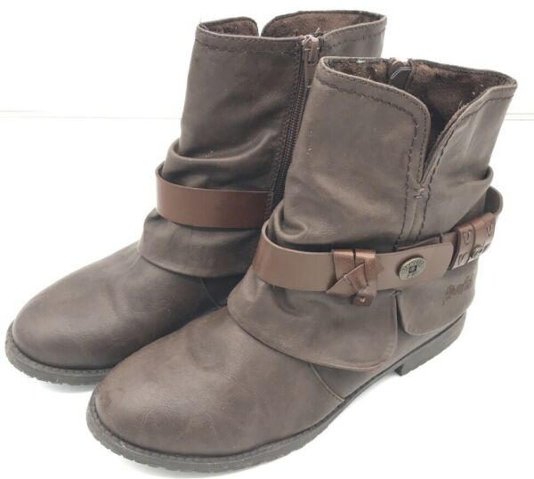 Blowfish Blow Fish Size 7 Brown Ankle High Boots Strap $29.99